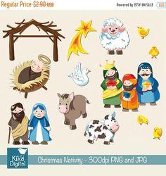 70% BIG Sale Christmas Nativity - Digital Clipart / Scrapbook - card design, invitations, stickers, paper crafts, web design - INSTANT DOWNL by DigiKika on Etsy https://www.etsy.com/listing/86464329/70-big-sale-christmas-nativity-digital