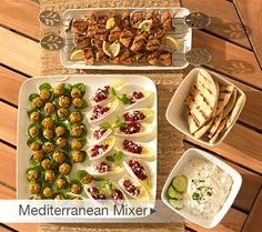 Free party plan, recipes and shopping list for an easy Mediterranean Mixer party!