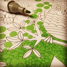 Coloring tip: Use marker pen and make vivid and interesting background Coloring Brush Pen, Coloring Tips, Free Coloring, Coloring Books, Coloring Pages, Marker Pen, Brush Markers, Copic Markers, Negative Space Art