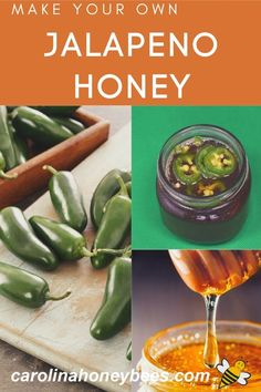 Make your own Jalapeno honey.  If you like hot honey this is an easy recipe to try.  Make it as hot as you like.  #carolinahoneybees #jalapenohoney #hothoney Hot Honey Recipe, Honey Recipes, Raw Recipes, Honey Baked Chicken, Baked Chicken Strips, Easy Family Meals, Easy Meals, Spicy Honey, Raw Honey