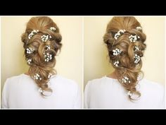 Wedding Hairstyles Medium Hair Wedding Hairstyle For Medium/Long Hair Romantic Hairstyles, Easy Hairstyles For Long Hair, Teen Hairstyles, Wedding Hairstyles For Long Hair, African Hairstyles, Black Hairstyles, Hairstyle Ideas, Hairstyles Pictures, Braided Hairstyles
