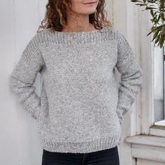 Knithouse Blokhus-trøje Sweater Knitting Patterns, Easy Knitting, Knitting Stitches, Knitting Socks, Knit Patterns, Knit Fashion, Knit Crochet, Sweaters, Ideas