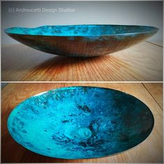 Just completed handmade Experimental Copper bowl, hammered and spun to form with blue patination added, made from scrap found copper, . Copper Work, Irish Art, Organic Form, Handmade Copper, Blue Art, Creative Crafts, Metal Art, Metal Working, Scrap