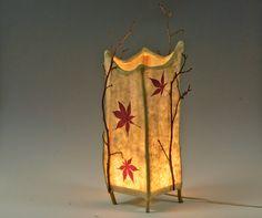 Haiku -- handmade paper and twig lamp. $125.00, via Etsy.