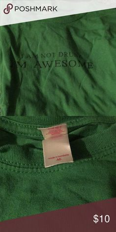 At Patty's T-shirt NWOT St. Patty's T-shirt  'I'M NOT DRUNK. IM AWESOME' anvil Tops Tees - Short Sleeve