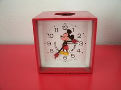 Mickey Mouse wind up alarm clock on Etsy, $15.99