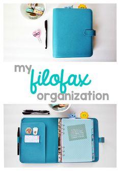 A peek inside my Filofax. I use the Aqua Saffiano & here's my filofax organization. Agenda Planner, Planner Pages, Life Planner, Planner Ideas, 2015 Planner, Blog Planner, Planner Stickers, Printable Planner, Bujo