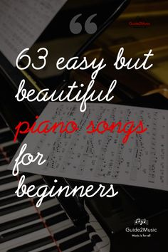 Are you beginner on the piano? Would you want to feel the joy of playing beautiful songs? Here is a selection of 63 easy but beautiful songs for piano! Piano Songs For Beginners, Beginner Piano Lessons, Easy Piano Songs, Music Lessons, Piano Music, Sheet Music, Piano Sheet, Piano Teaching, Learning Piano