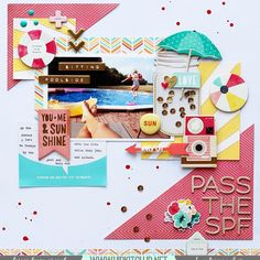 So excited to share this great summer LO created by our @hipkitclub DT member @adriennealvis using our awesome #july2015 #hipkits including one of the #hkcexclusiveprojectlife cards designed for us by our very own, Kim Watson.  @cratepaper #poolside #journey @americancrafts #thickers @octoberafternoon #summertime @kjstarre #projectlife @heidiswapp #wanderlust