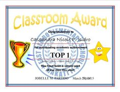 Top 10 Certificate & Subject Achiever Template Samples Free Printable and Editable Top 10 Certificate and Subject Achiever Templat. Certificate Of Achievement, Award Certificates, Certificate Templates, Classroom Door Signs, Classroom Bulletin Boards, Daily Lesson Plan, Lesson Plans, Certificate Background, Award Template