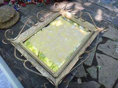 Tray, Vanity Tray, Mirror Tray, Dresser Tray, Gold Tray, Regency, Brass Vanity Tray, Perfume Tray, Dresser Decor, Boudoir, Gift for Her by CasaKarmaDecor, $62.10 USD