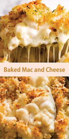 Baked Mac and Cheese Baked Mac And Cheese Recipe, Cheese Recipes, Pasta Recipes, Macaroni And Cheese, Dinner Recipes, Dinner Ideas, Food Tasting, Mozzarella, Cheddar