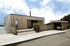 simple wood siding facade