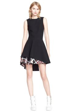 7e38f669a8 Free shipping and returns on Alexander McQueen Plaid Hem Flared Dress at  Nordstrom.com.