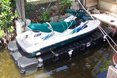 Single PWC Lift & Jet Ski Floating Dock Floating Jet Ski Dock, Jet Ski Lift, Boat Shed