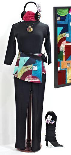 Conjunto geométrico Vas hecha un cuadro by Maite Cobo. #moda #bilbao #fashion