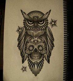 Coruja / Owl Tattoo                                                       …