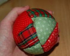 quilted styrofoam ball Christmas ornaments