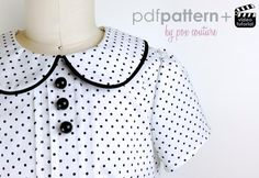 Looking for your next project? You're going to love Skylar Tuck Blouse - PDF PATTERN 2t-6  by designer PoxCouture.