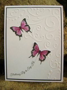love the butterflies with corner embossing folder