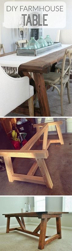 Check out the tutorial how to build a DIY farmhouse truss beam dining table @istandarddesign