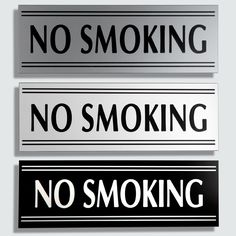 """24/"""" x 6/"""" /""""No Smoking/"""" Sign Powder Coated and Embossed"""