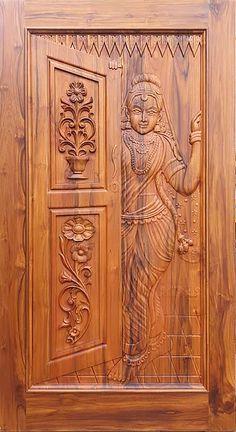 House Front Wall Design, Wooden Front Door Design, Pooja Room Door Design, Small House Interior Design, Door Design Interior, Wooden Doors, House Design, Indian Main Door Designs, Latest Door Designs