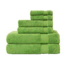 Amadeus Collection Turkish Cotton Towels - Green (6 Piece Set)