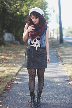 this look from the ModCloth Style Gallery! Cutest community ever. Nerd Fashion, Indie Fashion, Fashion Beauty, Fashion Outfits, Girly Girl Outfits, Pantyhose Outfits, Character Inspired Outfits, Edgy Look, Fashion Gallery