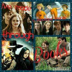 Harry potter, percy jackson, narnia, skulduggery pleasent, hunger games