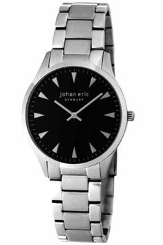 Johan Eric Men's JE9000-04-003B Helsingor Stainless Steel Blue Dial Bracelet Watch Johan Eric. $149.25. Water-resistant to 50 M (165 feet). Luminous hands. Brushed and polished solid stainless steel bracelet. Quartz movement- Miyota 2025. Blue dial with triangular hour-markers. Save 25%!