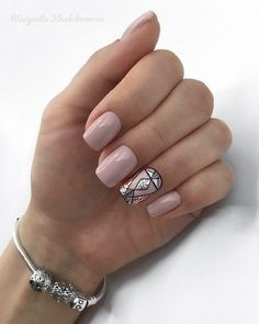 What you need to know about acrylic nails - My Nails Blush Pink Nails, Nude Nails, Acrylic Nails, Pale Pink, Gelish Nails, Nail Manicure, My Nails, Shellac, Nagel Gel