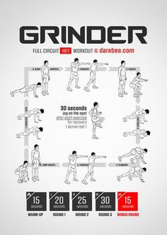 For more workouts and exercise descriptions, go to darebee.com.