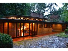 Exterior of the Frank Lloyd Wright-designed Brandes home, at 2202 212th Ave S.E., in Sammamish. Its listed for $1.39 million. Photo: Courtesy Sam Cunningham/Realogics Sothebys International Realty