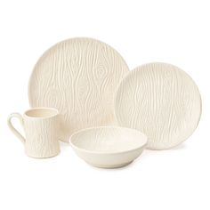 PORCELAIN FAUX BOIS DISHWARE COLLECTION | porcelain plates, dishes, bowls | UncommonGoods