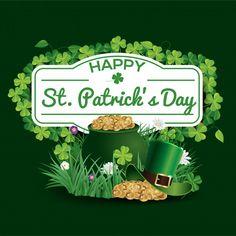 Saint Patricks Day Art, Happy St Patricks Day, Invitation, St Pats, Paddys Day, Luck Of The Irish, Holiday Themes, Vector Photo, Holidays And Events