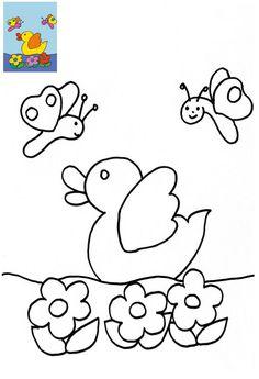 colbebe Drawing Lessons For Kids, Art Drawings For Kids, Bird Drawings, Easy Drawings, Fall Crafts For Kids, Paper Crafts For Kids, Craft Activities For Kids, Kindergarten Addition Worksheets, Kindergarten Coloring Pages
