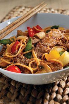 Mongolian Steak and Noodels! Great healthy meal | shape