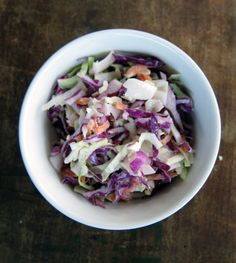 Country-Style Buttermilk Coleslaw recipe - a lighter alternative if you love your coleslaw this Australia Day. #ThePromiseAu