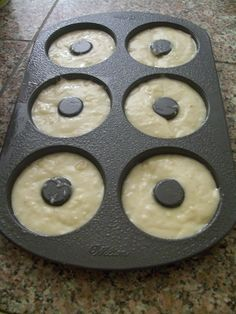 - Baked Cake Donuts {Wilton Style Wilton Bake Pan– doughnut recipe this is really good to add 3 tablespoons vanilla pudding powder and minus 1 tablespoon of the flour Donut Pan Recipe, Baked Doughnut Recipes, Doughnut Pan, Baked Doughnuts, Basic Donut Recipe, Baked Buttermilk Donuts Recipe, Cake Flour Recipe, Cupcakes, Crack Crackers