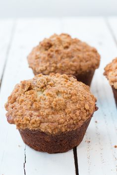 The fluffiest banana crumb muffins ohsweetbasil.com