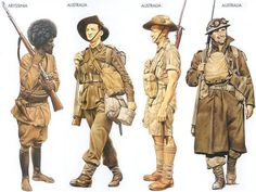 Commonwealth soldiers during the Second World War