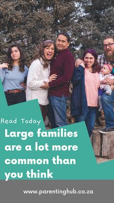 """Large families are a lot more common that you think today. With many people getting divorced it is very common for blended families to end up with 4 or even more children. People still react with shock when they hear people say """"oh I have four kids"""" and generally follow it with, """"How do you cope."""""""