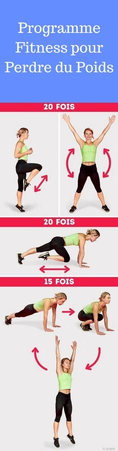 programme fitness minceur pour perdre du poids rapidement #fitness #programme #minceur
