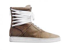 DIOR HOMME, SS11: kva lacing for days. #dior_homme #kris_van_assche #shoe #hightop