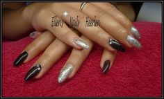 Silver and black with strass