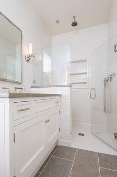 36 minimalist small bathroom remodeling on a budget 24 - Bathroom - . 36 minimalist small bathroom remodeling on a budget 24 - Bathroom - Half Wall Shower, Tile Walk In Shower, Master Shower, Shower Bathroom, Glass Shower Walls, Downstairs Bathroom, Glass Showers, Glass Walls, Shower With Glass Door