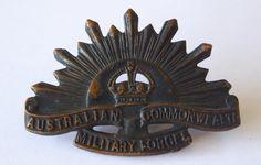 Ww2, Badge, Sunrise, Lion Sculpture, Military, Australia, Statue, Antiques, Antiquities