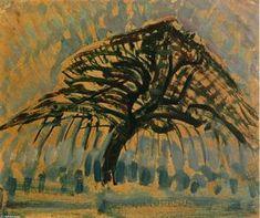 Piet Mondrian - Studie für Blue Apple Tree Series