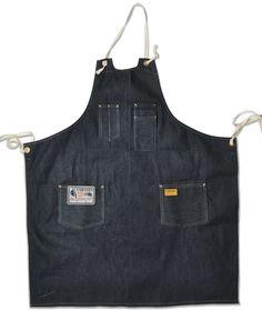 indigo carpenter apron | carter's overalls  cone mills denim!